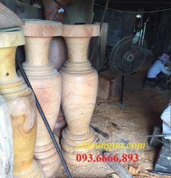 Lục bình gỗ nguyên khối