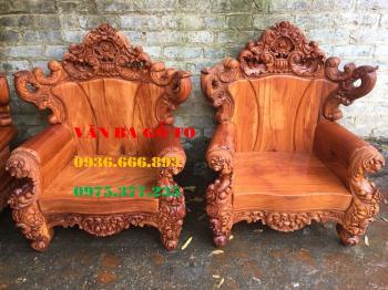Bàn ghế gỗ Hoàng gia (Louis) 6 món