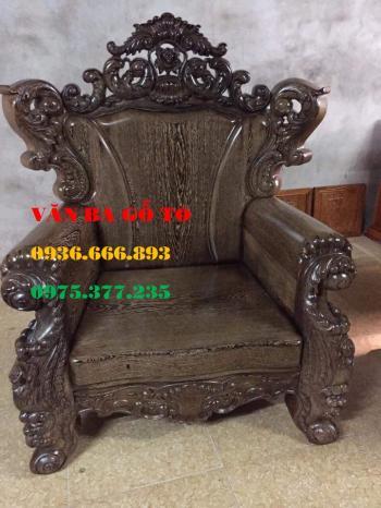 Bàn ghế gỗ Louis Hoàng Gia 6 món