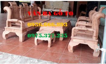 Bàn ghế gỗ| Bàn ghế Minh Tần hương đá cột 12 cm 6 món