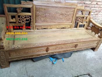 Bàn ghế gỗ| Bàn ghế Sơn Thủy Gỗ Mun 6 món