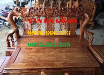 Bàn ghế gỗ| Bàn ghế minh đào gỗ hương vân cột 12 cm