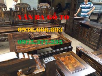 Bàn ghế gỗ| Minh hộp gỗ mun chân 12 cm