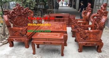 Bàn ghế gỗ| Bàn ghế Rồng khuỳnh tay hương đá