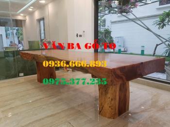 Bàn ăn| Mặt bàn ăn gỗ cẩm đá_MBA400