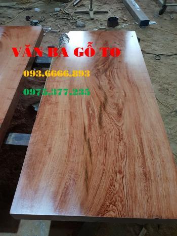 Bàn ăn|Mặt bàn ăn gỗ cẩm đá _MBA403