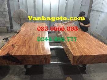 Bàn ăn|Mặt bàn ăn gỗ cẩm đá_MBA406