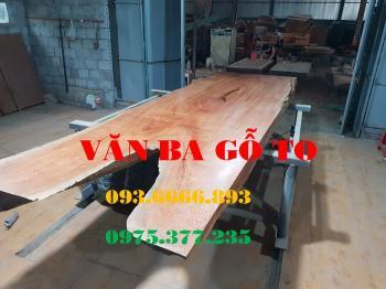 Bàn ăn|Mặt bàn ăn gỗ cẩm đá_MBA407