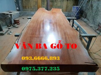 Bàn ăn|Mặt bàn gỗ cẩm đá _MBA408
