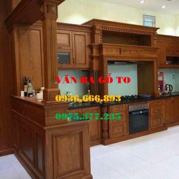 Tủ bếp gỗ tại Hà Đông