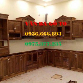 Tủ bếp gỗ tại Hải phòng