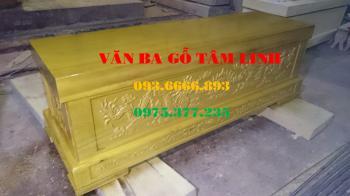 Quan tài gỗ vàng tâm tại Thái Bình