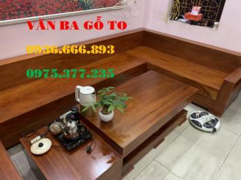 Sofa gỗ nguyên khối - SOFD233