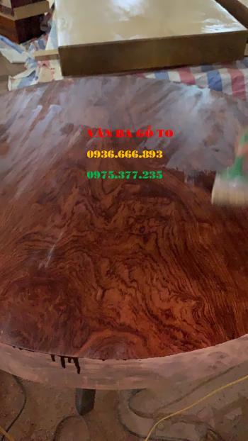 Mặt bàn tròn gỗ cẩm - MBTC008