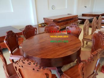 Bàn tròn gỗ VIP
