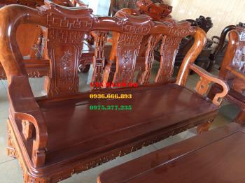 Bàn ghế gỗ - bộ minh triện tay 12 cm