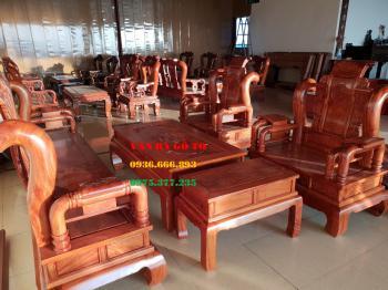 Bàn ghế gỗ - Minh tần cột 12 cm
