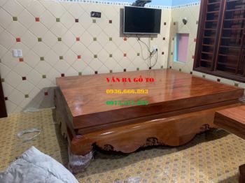 Sập gỗ hương đá - SGHD004