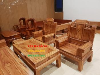 Bàn ghế gỗ gõ đỏ vân đẹp