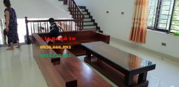 Sofa gỗ nguyên khối - SOGL300