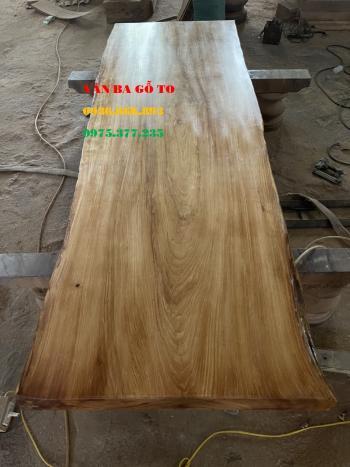 Mặt bàn trang trí gỗ nguyên khối