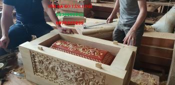 quách gỗ vàng tâm - thành 8 - sản xuất tại Doanh Nghiệp VĂN BA GỖ TO